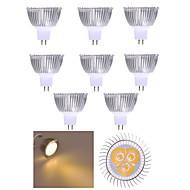 billige Spotlys med LED-10 stk mr16 led spotlight mr16 3 høy effekt led 350lm varm hvit kald hvit dekorativ dc12v
