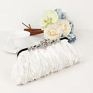 Vrouw Tassen Alle seizoenen Metaal Satijn Avondtasje Kristal/Strass voor Bruiloft Evenement/Feest Formeel Zwart Zilver Paars Bruin Rood