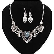 Smykkesæt - Kvadratisk Zirconium, Simuleret diamant Hjerte, Kærlighed Luksus, Vintage, Kontor Omfatte Sølv / Regnbue Til Fest / Speciel Lejlighed / Jubilæum / Øreringe / Halskæder