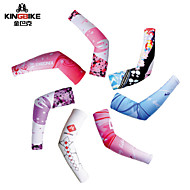 tanie Ocieplacze na ręce i nogi, ochraniacze na buty-Kingbike łazienkowe ramię Wiosna / Lato / Jesień Szybkie wysychanie / Odporność na promieniowanie UV / Wysoka oddychalność (> 15.001 g) Joga / Narciarstwo / Kemping i turystyka Damskie Spandeks