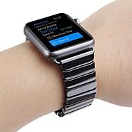billiga Smart klocka Tillbehör-Klockarmband för Apple Watch Series 4/3/2/1 Apple fjäril spänne Keramisk Handledsrem