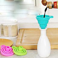 1pc de silicone portátil de funil macio de cor aleatória de suprimentos de cozinha