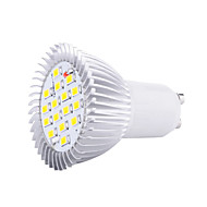 1pc 5w gu10 led spotlight 16 smd5630 3000k / 6500k dekorative ac85-265v