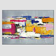 billiga Landskapsmålningar-Hang målad oljemålning HANDMÅLAD - Abstrakt Moderna Europeisk Stil Med Ram / Sträckt kanfas