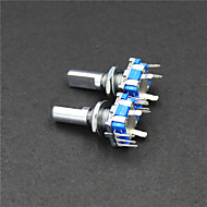codificador rotativo interruptor Dode / CE11 / áudio potenciômetro digital - verde + prata (2 peças)