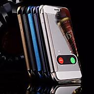 Käyttötarkoitus iPhone X iPhone 8 iPhone 6 iPhone 6 Plus kotelot kuoret Ikkunalla Peili Kokonaan peittävä Etui Piirretty Kova Metalli