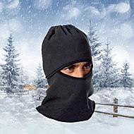 Balaklava na lyže Kukly Kolo Prodyšné Zahřívací Větruvzdorné Odolné vůči prachu Dámské Pánské Černá Fleece