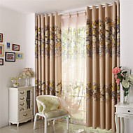 cheap Blackout Curtains-Rod Pocket Grommet Top Tab Top Double Pleat Pencil Pleat Two Panels Curtain Designer Country Modern Neoclassical Mediterranean Rococo