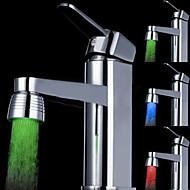 billige Rabatt Kraner-ledet kranen lett vannkran farge vannkraner dysen trenger ikke batteri