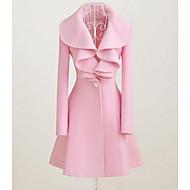 Žene Vintage Izlasci Haljina Dugih rukava Ružičasta Crna Zima