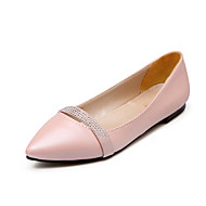 cheap Women's Flats-Women's Shoes Leatherette Spring / Summer Comfort Flat Heel Sparkling Glitter / Split Joint Beige / Purple / Pink