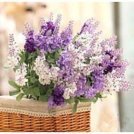 cheap Artificial Flowers-1 Bouquet 3 clor Silk Lavender Wedding decoration Artificial Flowers