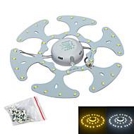 Jiawen 18W 1600lm 6500k / 3200K 36-smd5730 hvit lyskilde for taklampe / magnetiske spiker (ac170 ~ 265V)