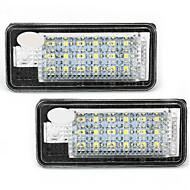 2 fehér 18 SMD LED-es rendszámtábla világítás lámpák izzók Audi A3 A4 8e RS4 A6 Q7