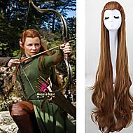 Naisten Synteettiset peruukit Hyvin pitkä Laineita Ruskea Rooliasu peruukki