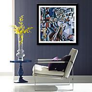 billige Innrammet kunst-abstrakt fantasi fritid Innrammet Lerret Innrammet Sett Veggkunst,PVC Materiale med ramme For Hjem Dekor Rammekunst Stue Kjøkken