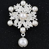 preiswerte Frauen Broschen-Imitation Diamant Modisch Weiß Schmuck Party Besondere Anlässe