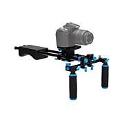 内蔵yelangu®精神レベルアルミ合金、ゴムのデジタル一眼レフ肩はDSLRカメラ用のビデオスタビライザーリグ