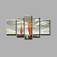 billiga Topp Konstnär-Hang målad oljemålning HANDMÅLAD - Landskap Moderna Duk
