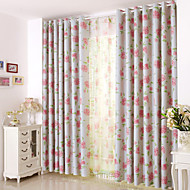 cheap Blackout Curtains-Rod Pocket Grommet Top Tab Top Double Pleat Pencil Pleat Two Panels Curtain Country Modern Neoclassical Mediterranean European , Print &