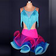 billiga Danskläder och dansskor-Latinamerikansk dans Outfits Dam Prestanda Polyester / Elastan Tofs Topp / Kjol / Latinodans / Samba