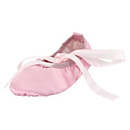 cheap Ballet Shoes-Ballet Shoes Silk Flat Flat Heel Non Customizable Dance Shoes Camel / Red / Pink / Indoor