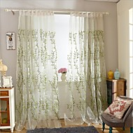 To paneler Window Treatment Moderne Soverom Polyester Materiale gardiner gardiner Hjem Dekor For Vindu