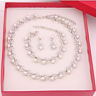 Pentru femei Imitație de Perle costum de bijuterii Aliaj Coliere Σκουλαρίκια Brățări Pentru Nuntă Petrecere Ocazie specială Zi de Naștere