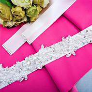 Χαμηλού Κόστους Κορδέλες-Σατέν Γάμου / Πάρτι / Βράδυ / Καθημερινή Ένδυση Ζώνη Με Τεχνητό διαμάντι / Χάντρες / Πέρλες Γυναικεία Ζώνες για Φορέματα / Διακοσμητικά Επιράμματα