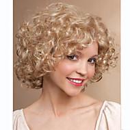 Парики из искусственных волос Кудрявый Стиль Без шапочки-основы Парик Блондинка Блондинка Искусственные волосы Жен. Блондинка Парик Короткие Парик для Хэллоуина
