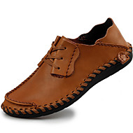 baratos Sapatos Masculinos-Homens Pele Napa Outono / Inverno Conforto Oxfords Preto / Café / Castanho Claro / Festas & Noite
