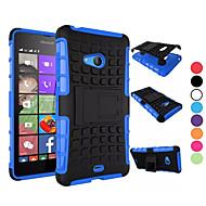 billiga Mobil cases & Skärmskydd-För Nokia-fodral Stötsäker med stativ fodral Skal fodral Pansar Hårt PC för NokiaNokia Lumia 950 Nokia Lumia 830 Nokia Lumia 730 Nokia