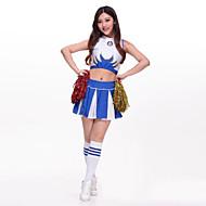 ชุดเชียร์ลีดเดอร์ Outfits สำหรับผู้หญิง Performance เส้นใยสังเคราะห์ ลายปัก เสื้อไม่มีแขน สูง Top / กระโปรง