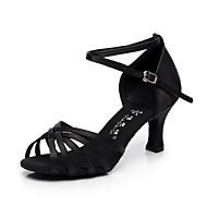 baratos Sapatilhas de Dança-Sapatos de Dança (Preto / Marrom / Vermelho) - Feminino - Não Personalizável - Latina / Salsa