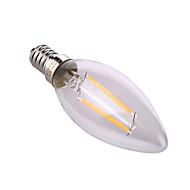 billige Stearinlyslamper med LED-YWXLIGHT® 1pc 4 W 320 lm E14 / E26 / E27 LED-lysestakepærer A60(A19) 2 LED perler COB Dekorativ Varm hvit / Naturlig hvit 220-240 V / 1 stk. / RoHs