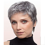 Women Grey Color Fashional Lady Straight Short Synthetic Hair Wig