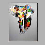 Single Modern Abstract Pure Hand Draw Ready To Hang The Elephant  Decorative  Oil Painting