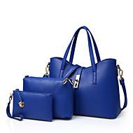 Χαμηλού Κόστους Σετ τσάντες-Γυναικεία Τσάντες PU Tote / Τσάντα ώμου / Σετ τσάντα 3 σετ Σετ τσαντών Καρφιά Κόκκινο / Μπλε / Ροζ