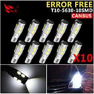 10x CANbus kile t10 hvid 192 168 194 W5W 10 5630 SMD LED lys lampe pære fejlfri 12v