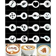 16pcs modelo de impressão para fazer café plástico extravagante design minimalista varredura pad