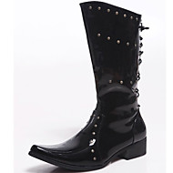 Men's Shoes Wedding / Outdoor / Office & Career / Party & Evening / Dress / Casual Patent Leather Boots Black