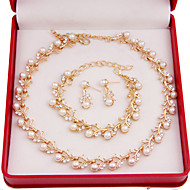 preiswerte Schmuck-Damen Imitierte Perlen Modeschmuck Aleación Halsketten Ohrringe Armbänder Für Hochzeit Party Besondere Anlässe Geburtstag Verlobung Alltag