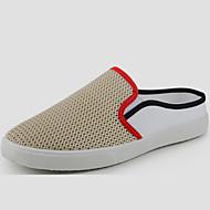tanie Obuwie damskie-Dla obu płci Obuwie Tiul Wiosna Lato Comfort Mokasyny i pantofle na Atletyczny Casual Na wolnym powietrzu Black Beige Niebieski