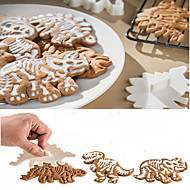 3Pcs Dino Fossil Cookie Cutters Cake Mould Cake Tools