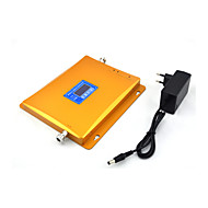 2G 3G Mobile Phone Signal Booster GSM 900mhz W-CDMA UMTS 2100mhz Signal Repeater Amplifier with Power Supply LCD Display / Golden