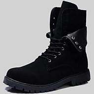 Homens Sapatos Confortáveis Sintético Outono / Inverno Casual Botas Botas Cano Médio Preto / Festas & Noite / Festas & Noite / Escritório e Carreira / Fashion Boots / Curta/Ankle
