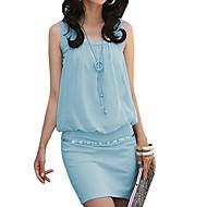 Elegante Cotton Bodycon OL Moda Vestido das mulheres
