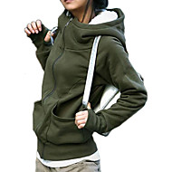 Dámské Bavlna mikina Jacket - Jednobarevné