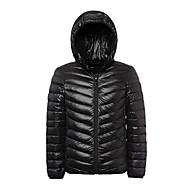 Muškarci Bélelt kabát túrázáshoz Vanjski Zima Ugrijati Lagani materijali Dole Zimska jakna Hoodie Majice Cijeli Duljina Vidljivo Zipper