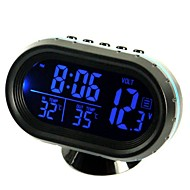 ziqiao monikäyttöinen auto elektroninen kello / lämpömittari / volttimittarin kanssa yöllä valot valkoinen lasi näyttö (satunnaisia